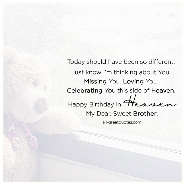 Happy Birthday In Heaven Poem Brother