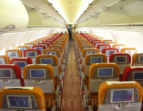 Airplane Pics Economy Class Aboard Air India Airbus A319