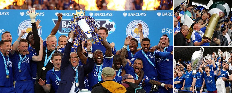 Leicester City finally get their hands on the Premier League trophy