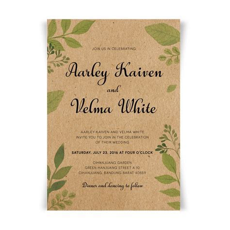 Wedding Invitations with Envelope, Vintage Invitations for