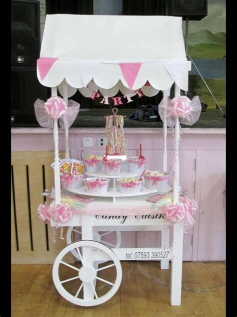 Our small candy cart for a children's party, available to