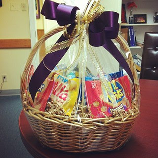 a family I worked with this year just brought me a thank you basket. so thankful for such a sweet gesture!