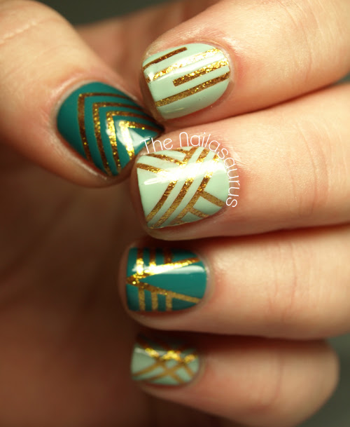 17 Perfect Nail Designs With Striping Tape Fashionsycom