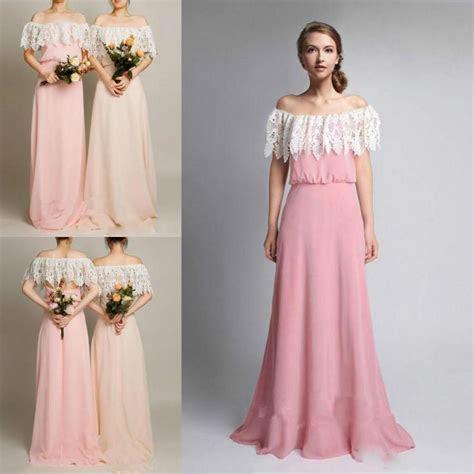Spring 2016 Lace Bridesmaid Dresses Off Shoulder Hollow