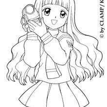 Coloriages Coloriage De Sakura La Princesse Frhellokidscom