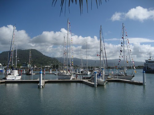 Apia marina opening day