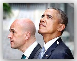 Fredrik Reinfeldt och Barack Obama
