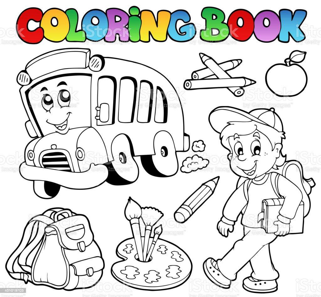 Ninos Yendo Al Colegio Para Colorear