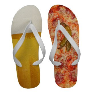 Beer And Pizza Flip-Flops