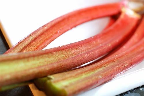Beautiful rhubarb stalks by Eve Fox, Garden of Eating blog, copyright 2012