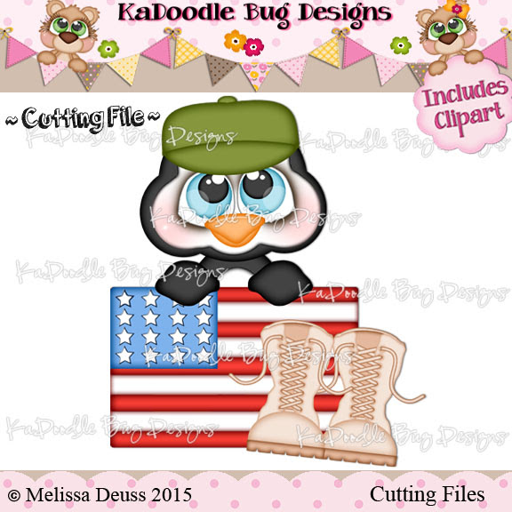 Cutie KaToodles - Army Penguin - Click Image to Close