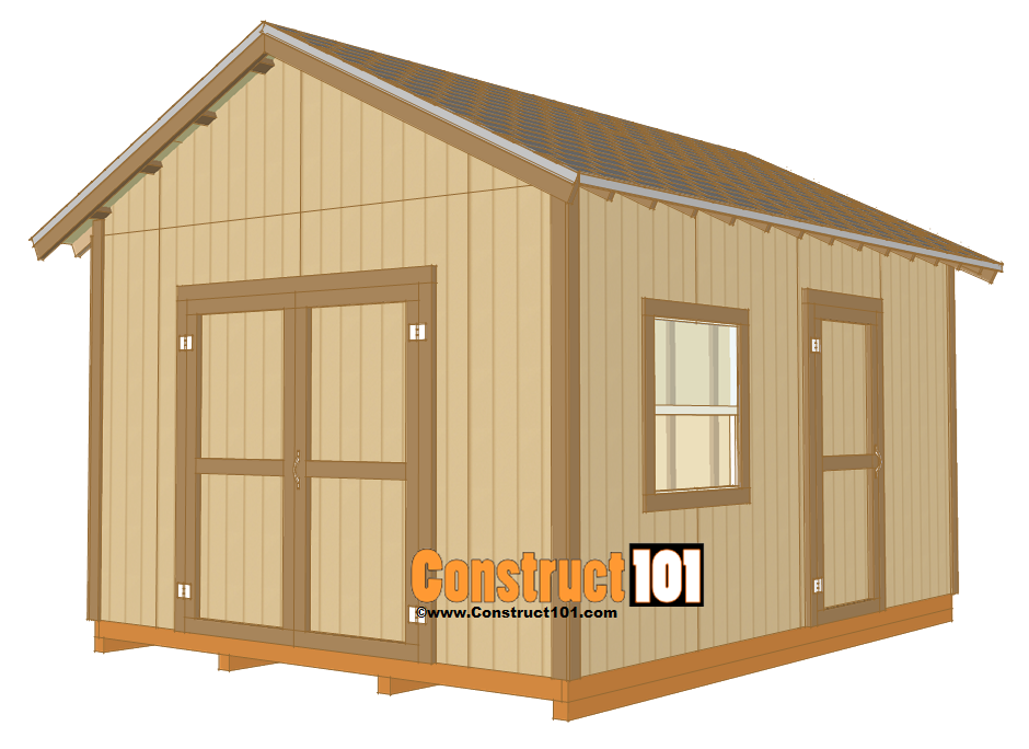 12x16 Shed Plans And Material List Sheds And Outdoor Buildings