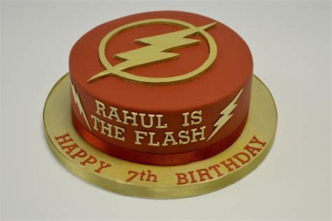 Cut out Flash Logo Cake   Boys Birthday Cakes
