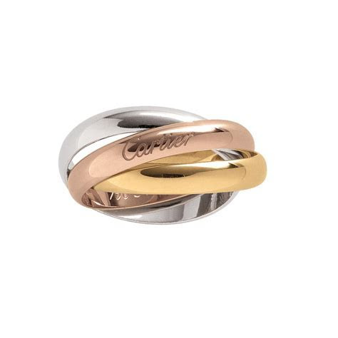 Trinity ring in pink, white and yellow gold   Cartier