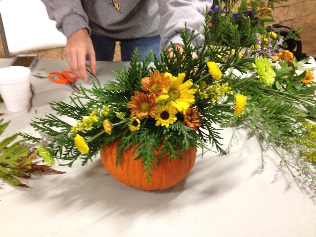 How To Make Pumpkin Floral Arrangements Homeec Home