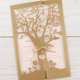 Laurel Tree Laser with Twine Wedding Invitation   Pure