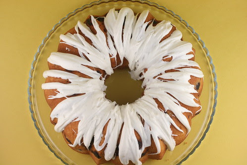 Blueberry Coffee Cake Bundt with Vanilla Glaze - I Like Big Bundts