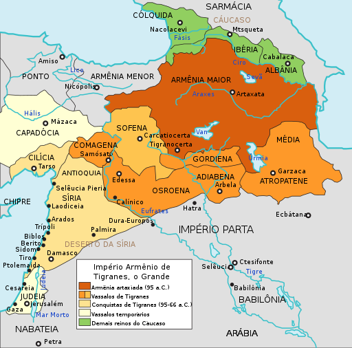 Maps of the Armenian Empire of Tigranes-pt.svg