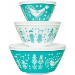 Vintage Charm Rise N Shine 3 Piece Mixing Bowl Set