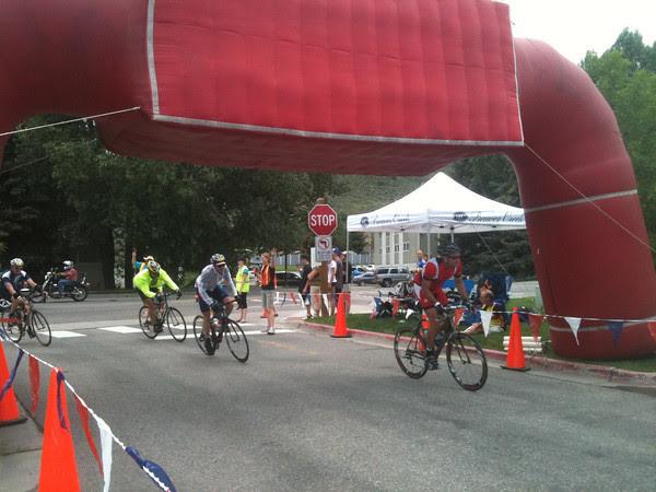 Saturday's finish line