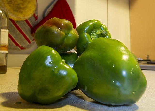 Green Pepper Harvest