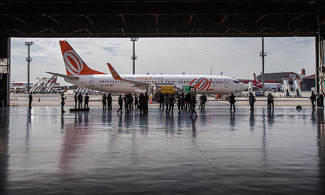 Primeiro voo comercial brasileiro com biocombustível, da Gol