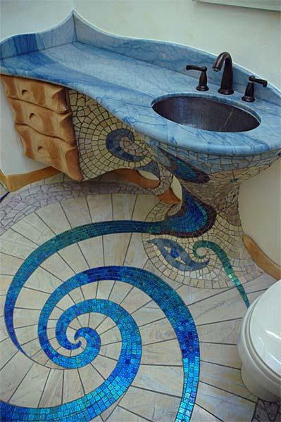 Unique and Amazing Mosaic Bathroom Design | Home Design ...