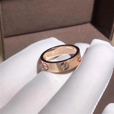 18K pink gold yellow gold Cartier Love wedding band 1
