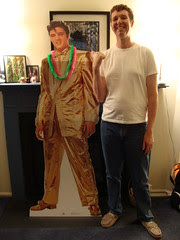 Pete and cardboard Elvis