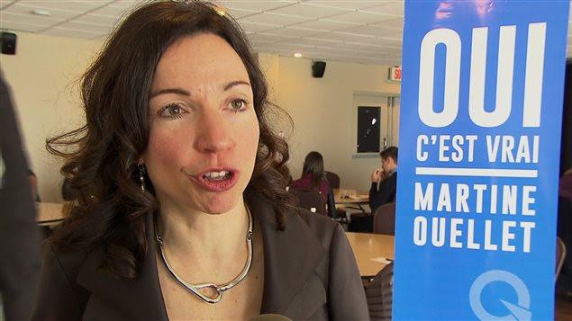 La candidate à la direction du PQ, Martine Ouellet