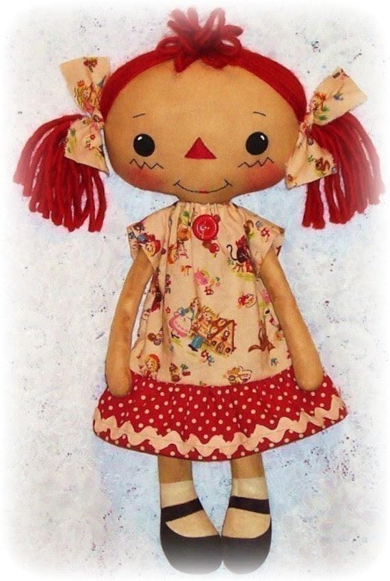 Cloth Doll Pattern, Rag Doll Pattern, Raggedy Ann Pattern, Soft Doll Pattern, Softie, PDF Doll Pattern, Sewing Pattern, ePattern