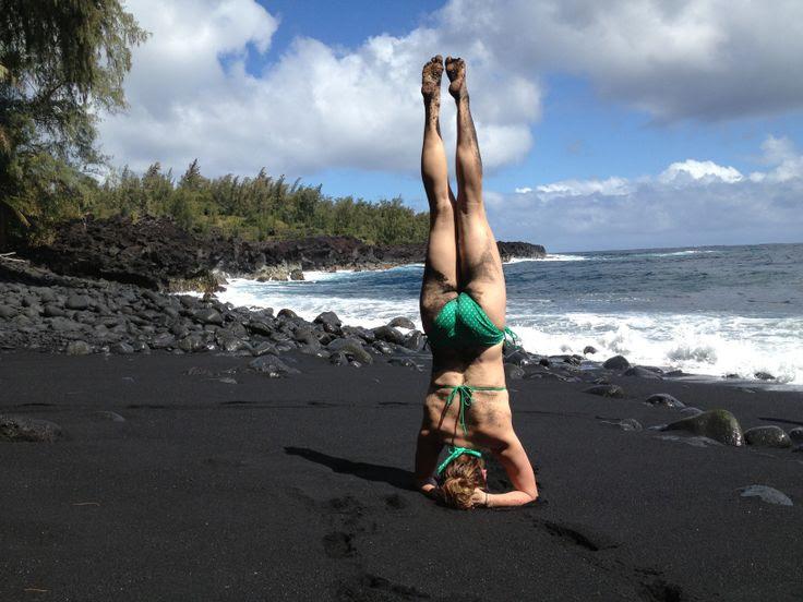 Black sand beach in Hilo, Hawaii