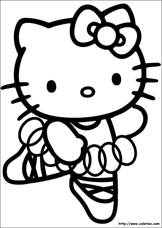 Coloriage Kitty Danseuse étoile