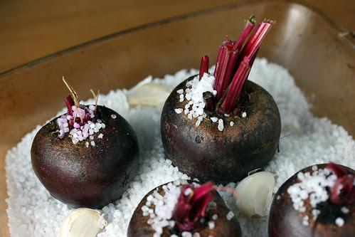 Roasting salted beets