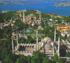 Hagia Sofia dan Blue Mosque, Istanbul, Turkey