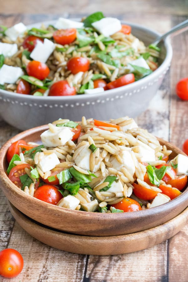 Image result for caprese orzo pasta salad