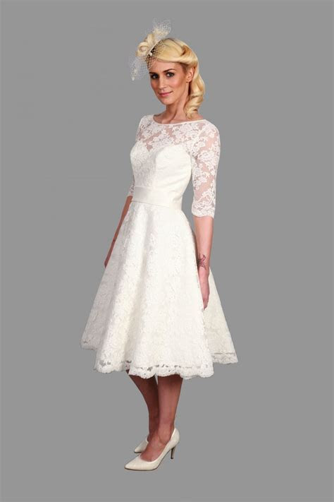 Popular Tea Length Lace Dress With Sleeves Buy Cheap Tea