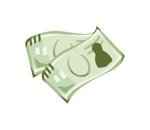 無料素材 2枚のお札のお金を描いたフリーイラストショッピング関連の