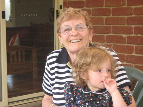 Chloe with her grandmother Margaret