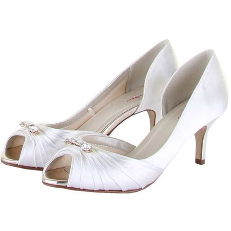 Rainbow Club Shoes Arabella   Dyeable Satin Wedding and