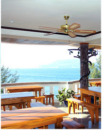 Tri Trang Beach Resort - view from restaurant