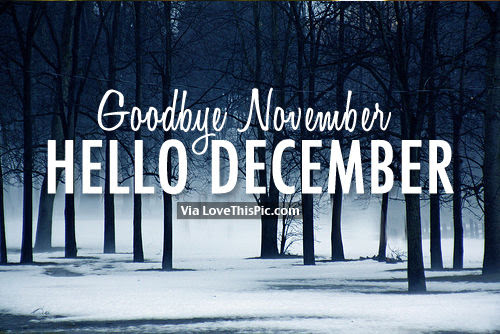 Goodbye November, Hello December Pictures, Photos, and Images for Facebook, Tumblr, Pinterest