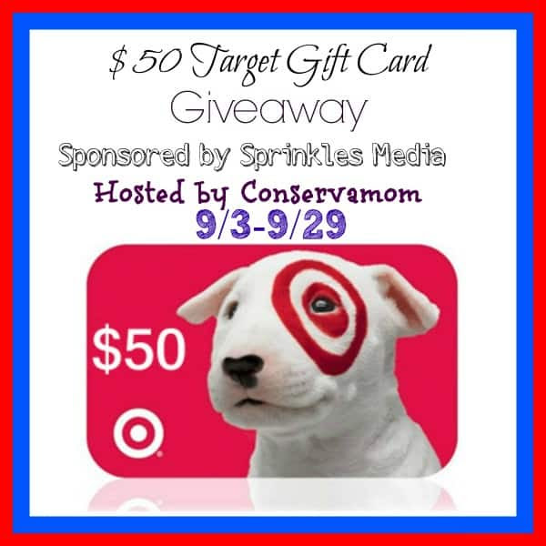 Enter the September $50 Target Gift Card Giveaway. Ends 9/29.