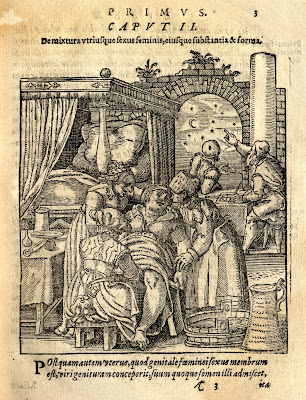 Rueff 1580 - midwife delivering baby