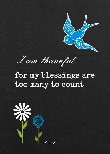 5 x 7 blessings blue bird