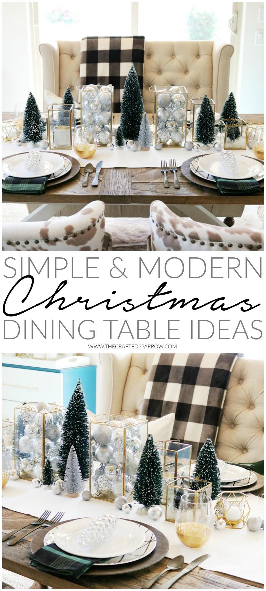 Simple & Modern Christmas Dining Table Ideas