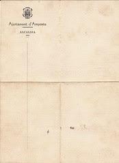 Anvers: Salconduit sobre paper oficial de l'Aj. d'Amposta