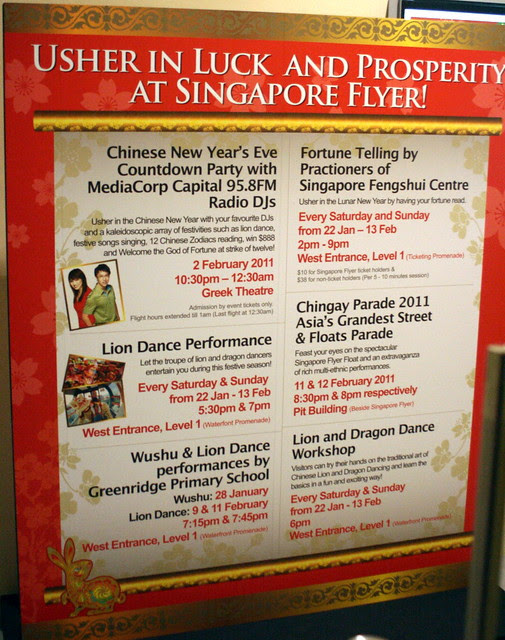 CNY Activities at the Singapore Flyer