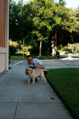 Jason and Cooper in Hollywood - well, Burbank to be precise