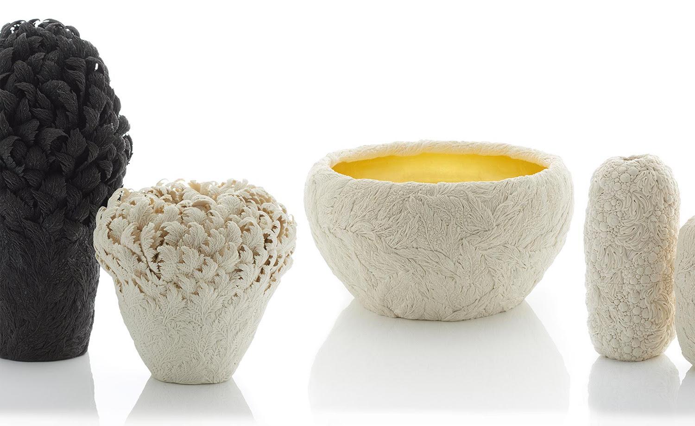 Sculture di porcellana ispirate dai fiori di hitomi hosono for Sculture di fiori